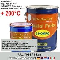 BRANTHO-KORRUX 2-KOMPO Rostschutzlack RAL 7035 Lichtgrau 6 kg