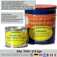 BRANTHO-KORRUX 2-KOMPO Rostschutzlack RAL 7035 Lichtgrau 0,8 kg