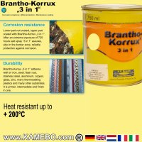 BRANTHO-KORRUX 3in1 Rostschutzlack RAL 1018 Zinkgelb 750 ml