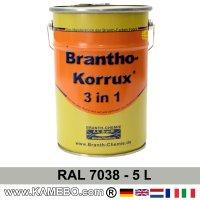 BRANTHO-KORRUX 3in1 Rostschutzlack RAL 7038 Achatgrau 5 Liter