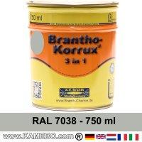 BRANTHO-KORRUX 3in1 Rostschutzlack RAL 7038 Achatgrau 750 ml