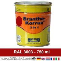 BRANTHO-KORRUX 3in1 Rostschutzlack RAL 3003 Rubinrot 750 ml