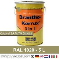 BRANTHO-KORRUX 3in1 Rostschutzfarbe RAL 1020 Olivgelb 5 Liter