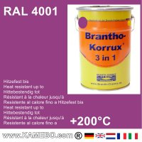 BRANTHO-KORRUX 3in1 Rostschutzfarbe RAL 4001 Rotlila 5 Liter