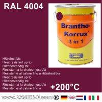 BRANTHO-KORRUX 3in1 Rostschutzfarbe RAL 4004 Bordeauxviolett 5 Liter
