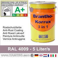 BRANTHO-KORRUX 3in1 Rostschutzfarbe RAL 4009 Pastelviolett 5 Liter