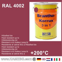 BRANTHO-KORRUX 3in1 Anti-Rust Coating RAL 4002 Red violet 5 Litres