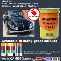 BRANTHO-KORRUX 3 in 1 Metallschutzlack / Korrosionsschutzlack RAL 5008 Graublau 5 Liter