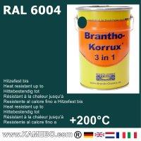 BRANTHO-KORRUX 3in1 Vernice Antiruggine RAL 6004 Verde bluastro 5 Litri