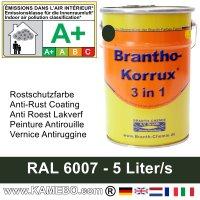 BRANTHO-KORRUX 3in1 Rostschutzfarbe RAL 6007 Flaschengrün 5 Liter
