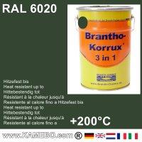 BRANTHO-KORRUX 3 in 1 Metallschutzlack / Korrosionsschutzlack RAL 6020 Chromoxidgrün 5 Liter