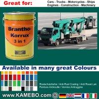 BRANTHO-KORRUX 3 in 1 Metallschutzlack / Korrosionsschutzlack RAL 6026 Opalgrün 5 Liter