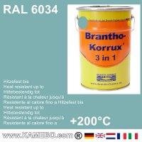 BRANTHO-KORRUX 3in1 Rostschutzfarbe RAL 6034 Pastelltürkis 5 Liter