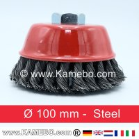 Topfbürste Stahldraht gezopft Ø 100 mm