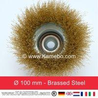 Topfbürste Stahldraht vermessingt und gewellt Ø 100 mm 5 Stück