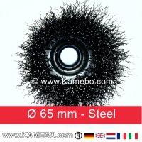 Topfbürste Stahldraht gewellt Ø 65 mm 5 Stück