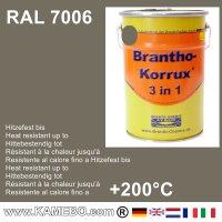 BRANTHO-KORRUX 3in1 Rostschutzfarbe RAL 7006 Beigegrau 5 Liter
