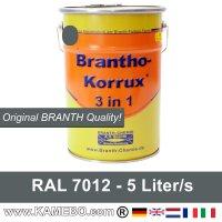 BRANTHO-KORRUX 3in1 Rostschutzfarbe RAL 7012 Basaltgrau 5 Liter