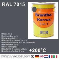 BRANTHO-KORRUX 3in1 Rostschutzfarbe RAL 7015 Schiefergrau 5 Liter