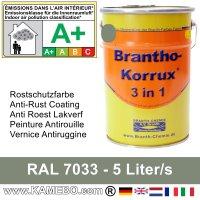 BRANTHO-KORRUX 3in1 Anti Roest Lakverf RAL 7033 Cementgrijs 5 Liter