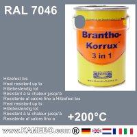 BRANTHO-KORRUX 3in1 Rostschutzfarbe RAL 7046 Telegrau 2 5 Liter