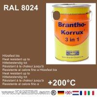BRANTHO-KORRUX 3in1 Rostschutzfarbe RAL 8024 Beigebraun 5 Liter