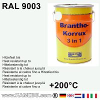 BRANTHO-KORRUX 3in1 Anti-Rust Coating RAL 9003 Signal white 5 Litres