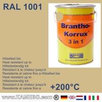 BRANTHO-KORRUX 3 in 1 Metallschutzlack / Korrosionsschutzlack RAL 1001 Beige 5 Liter