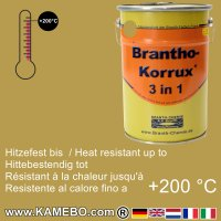 BRANTHO-KORRUX 3in1 Rostschutzfarbe RAL 1024 Ockergelb 5 Liter