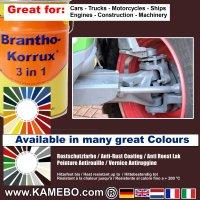 BRANTHO-KORRUX 3in1 Rostschutzfarbe RAL 3007 Schwarzrot 5 Liter