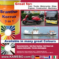 BRANTHO-KORRUX 3in1 Metallschutzlack / Korrosionsschutzlack RAL 3027 Himbeerrot 5 Liter