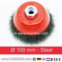 Topfbürste Stahldraht gewellt Ø 100 mm 5 Stück