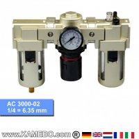 HJC Druckluft-Wartungseinheit 3teilig AC 3000-02