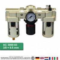 HJC Druckluft-Wartungseinheit 3teilig AC 3000-03