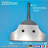 Teryair Schaber mit Stahlklinge 200 mm