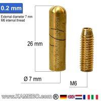 Hohlraumdüse 0,2 mm für Hohlraumsonden