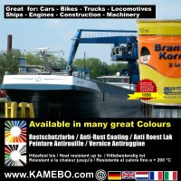 BRANTHO-KORRUX 3in1 Anti-Rust Coating RAL 9005 Jet black 750 ml