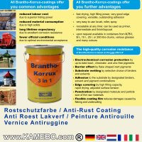 BRANTHO-KORRUX 3in1 Rostschutzlack RAL 9001 Cremeweiss 5 Liter