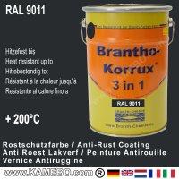 BRANTHO-KORRUX 3in1 Rostschutzlack RAL 9011 Graphitschwarz 5 Liter