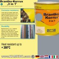 BRANTHO-KORRUX 3in1 Rostschutzlack RAL 7001 Silbergrau 750 ml