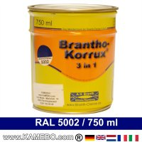 BRANTHO-KORRUX 3in1 Rostschutzlack RAL 5002 Ultramarinblau 750 ml