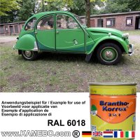 BRANTHO-KORRUX 3in1 Rostschutzlack RAL 6018 Gelbgrün 750 ml