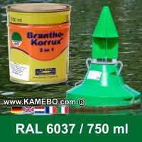 BRANTHO-KORRUX 3in1 Rostschutzlack RAL 6037 Tonnengrün 750 ml