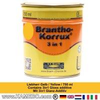 BRANTHO-KORRUX 3in1 Rostschutzlack Liebherr Gelb 750 ml