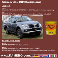 BRANTHO-KORRUX 3in1 Rostschutzlack Iveco Chassis IC 105 Rotbraun 750 ml