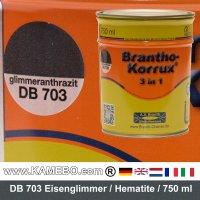 BRANTHO-KORRUX 3in1 Rostschutzlack DB 703 Glimmeranthrazit 750 ml