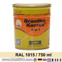 BRANTHO-KORRUX 3in1 Rostschutzlack RAL 1015 Hellelfenbein 750 ml