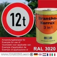 BRANTHO-KORRUX 3in1 Rostschutzlack RAL 3020 Verkehrsrot 5 Liter