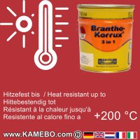BRANTHO-KORRUX 3in1 Rostschutzlack RAL 3002 Karminrot 750 ml