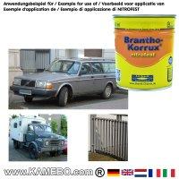 BRANTHO-KORRUX NITROFEST Korrosionsschutzlack RAL 7011 Eisengrau 750 ml